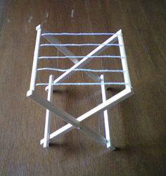 Miominimondo: Tutorial: stendibiancheria (laundry clothes drying rack)
