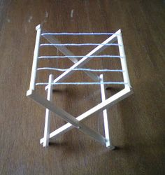 Miominimondo: Tutorial: stendibiancheria (laundry clothes drying rack)
