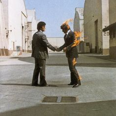 Pink Floyd - Wish You Were Giclee Canvas Album Cover Poster Art Iconic Album Covers, Classic Album Covers, Cool Album Covers, Pink Floyd Shine On, Pink Floyd Cover, Storm Thorgerson, The Kinks, Pochette Album, Backing Tracks