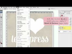 Letterpress effect in photoshop