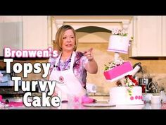 How To Make a Topsy Turvy Cake with Bronwen Weber lots of other tips for cakes and I bet you could make this stand with pvc pipe!