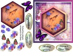 CUP887760_906 - This is a a nice 6 x 6 Decoupage 3D card front that can be used for so many different reasons. It Does come with 4 labels T...