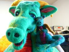 felted dragons