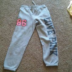 Vs love pink sweats Great condition PINK Victoria's Secret Pants