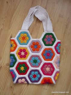 pretty African flower bag