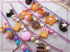 Polymer clay sweet bracelets