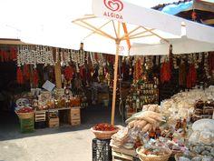 A typical market in Vieste, Puglia