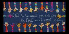 Resultado de imagen para murals de la pau School Doors, Beginning Of Year, Collaborative Art, Art Plastique, Peace, Education, Learning, Blog, Crafts