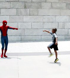Spider man fist punch high five so cute