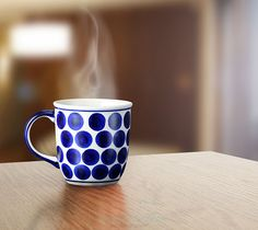 Classic mug. Traditional decoration number 61. Hand-painted using stamps.