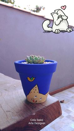 Vasinho com 13cm by Cida Sales Arte Designer. Decorated Flower Pots, Painted Flower Pots, Painted Pots, Clay Pot Crafts, Crafts To Do, Arts And Crafts, Diy Crafts, Pottery Painting, Diy Painting