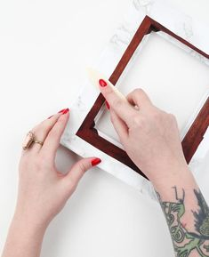 All it takes is a little contact paper to transform a thrift store frame. #DIY #etsy