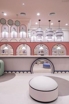THE_K Ulsan 2020 Trend Color Neo Mint! The interior is fine too! Showroom Design, Shop Interior Design, Cafe Design, Retail Design, Interior Design Inspiration, Store Design, Interior Design Living Room, Arch Interior, Retail Interior