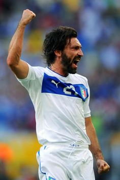 ~ Andrea Pirlo on the Italy National Team celebrating his goal against Mexico in the 2013 Confederations Cup ~