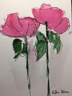 ORIGINAL AQUARELL Aquarellpostkarte Bild Kunst Blumen Watercolor | Antiquitäten & Kunst, Kunst, Aquarelle | eBay!