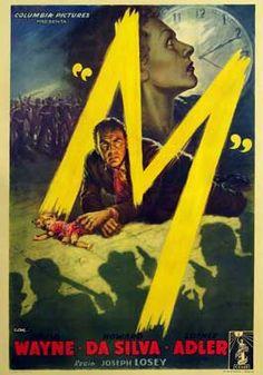 M (1951, Joseph Losey) #Movieposter