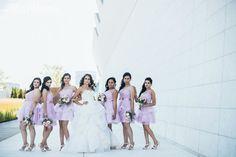 Short lilac purple bridesmaids dresses, bridesmaid dresses, classy bridal party CLASSY URBAN FOREST FANTASY WEDDING www.elegantwedding.ca