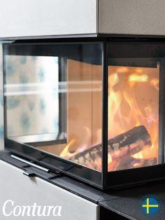 contura heizkamin i51 stahl feuer von drei seiten. Black Bedroom Furniture Sets. Home Design Ideas