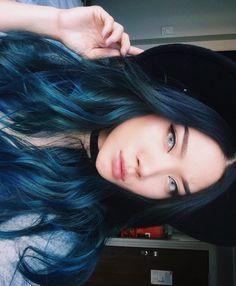 gorgeous blue hair