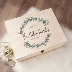 Christmas Eve Box For Kids, Wooden Christmas Eve Box, Xmas Eve Boxes, Christmas Eve Box Fillers, Christmas Gift Box, Homemade Christmas Gifts, Family Christmas, Christmas Time, Christmas Crafts