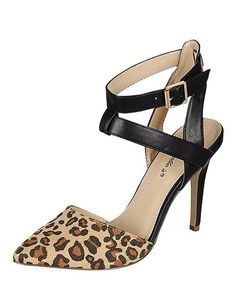 Take a look at the Breckelle's Leopard Ivana Pump on #zulily today!