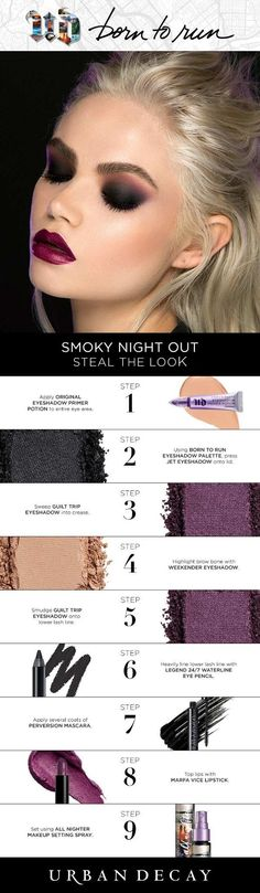 Are you Born to Run? Steal the Look! Are you Born to Run? Steal the Look! - Das schönste Make-up Urban Decay Makeup, Maquillage Urban Decay, Makeup Dupes, Skin Makeup, Beauty Makeup, Makeup Products, Beauty Products, Makeup Goals, Makeup Inspo