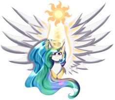 Princess Celestia bust - MLP by SonicSonic1.deviantart.com on @DeviantArt