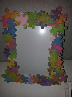 Fotolijstje met puzzelstukjes