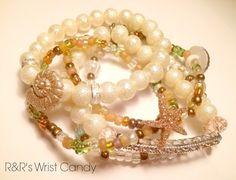 Beach Beauty Stack Beaded Bracelets by RandRsWristCandy on Etsy, $9.00