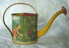 Vintage Chein Tin Litho Watering Can