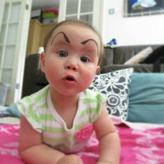 Who knew babies with eyebrows could be so funny.