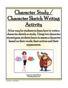 Creative writing character sketch template