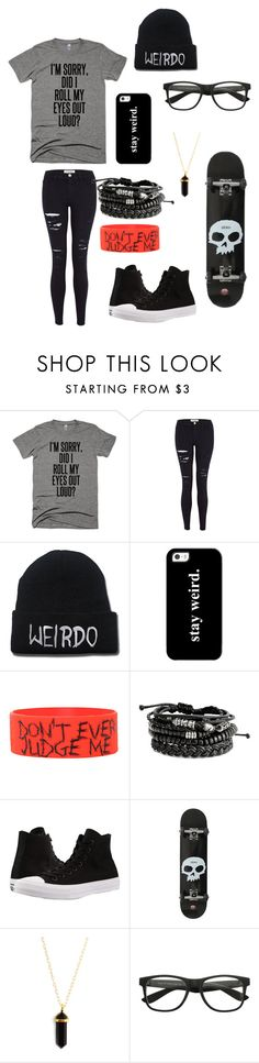 """""""Untitled #129"""" by darksoul7 on Polyvore featuring Frame Denim, Casetify and Converse"""