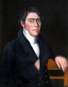 Artist: Ammi Phillips, Man in Napoleonic Pose 1822