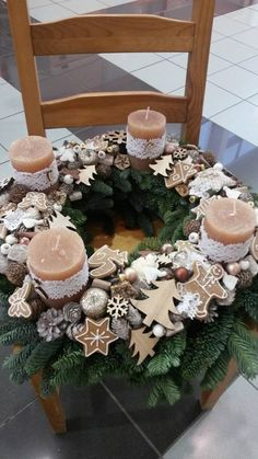 Beautiful                                                       … Christmas Advent Wreath, Christmas Decor Diy Cheap, Advent Wreaths, Christmas Snowman, Christmas Love, Rustic Christmas, Winter Christmas, Christmas Crafts, Xmas