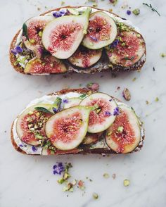 Figs, Coyo, Pistachio & Maple on Spelt Sourdough - taking me to new taste heights #