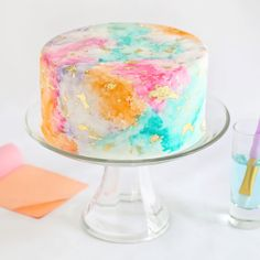 Make a statement at your next celebration with this cake decorating kit. Available in the B+C Shop.