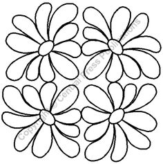 "Quilting Stencils > Floral & Leaf Block - Item: 7"" on QuiltingCreations.com"