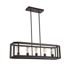 Chloe Industrial 5-light Oil Rubbed Bronze Pendant - Free Shipping Today - Overstock.com - 19171201 - Mobile