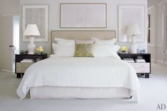 Victorian Hagan is the designer to go to if you want Hamptons chic in buckets - this is her own master bedroom which shows her typically elegant and restrained style to perfection. Although the palette is neutral, this bedroom full of interest and detail