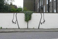 Banksy 'Bush' Piece in London