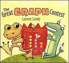 The Great Graph Contest -- a cute picture book that teaches data collection and types of graphs.