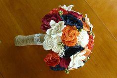 Sola wood Bouquet,  Wedding Bouquet, Alternative Bouquet, Fall Bouquet, Sola flowers, Wood Boquet