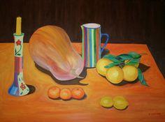 Título: Calabaza, cítricos y cerámica. Propietario: Monika Harvey