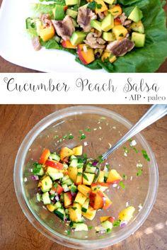 Cucumber Peach Salsa | Real Food & Love
