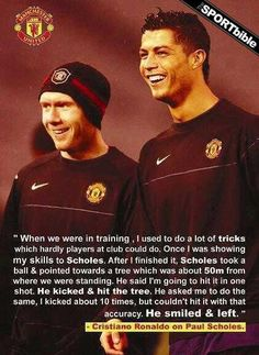 Twitter / TSBible: Cristiano Ronaldo on Paul Scholes ...