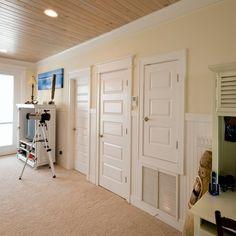 Pensacola Beach house interior trim project Detail shot of