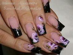 . Rose Nail Art, Rose Nails, Beauty Hacks, Beauty Tips, Nail File, French Nails, Mani Pedi, Pretty Nails, Nail Ideas