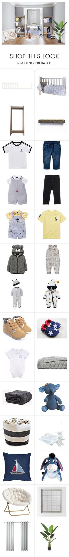 """Baby boy"" by isabelletrabold ❤ liked on Polyvore featuring interior, interiors, interior design, home, home decor, interior decorating, Babyletto, adidas Originals, Little Me and Carter's"