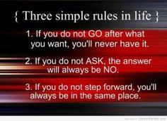 Inspiration, Inspirational Words, Messages, Quotes, Word, Sayings, Message - Three simple rules in life